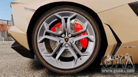 Lamborghini Aventador LP700-4 2012 [EPM] for GTA 4 back view