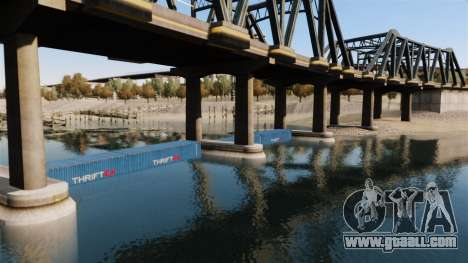 The road under the bridge for GTA 4 fifth screenshot