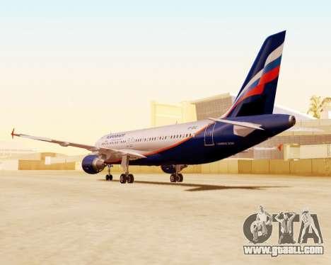 Airbus A320-200 Aeroflot for GTA San Andreas inner view