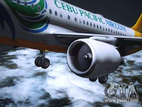 Airbus A320 Cebu Pacific Air for GTA San Andreas interior