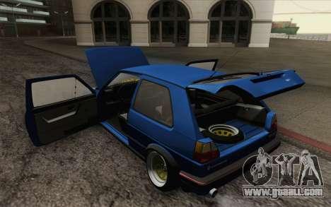 Volkswagen Golf MK2 LowStance for GTA San Andreas interior