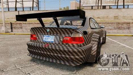 BMW M3 GTR 2012 Drift Edition for GTA 4 back left view