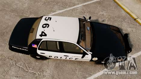 Ford Crown Victoria LCPD [ELS] for GTA 4 right view