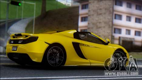 McLaren MP4-12C Spider for GTA San Andreas left view