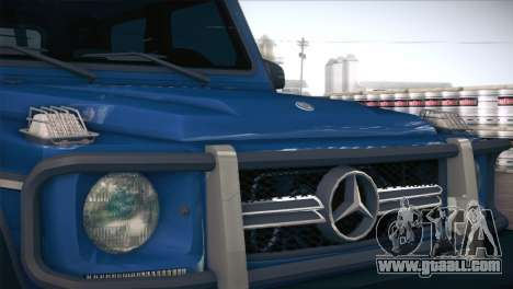 Mercedes-Benz G63 AMG 6X6 for GTA San Andreas inner view