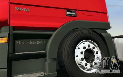 Mercedes-Benz Actros for GTA San Andreas bottom view