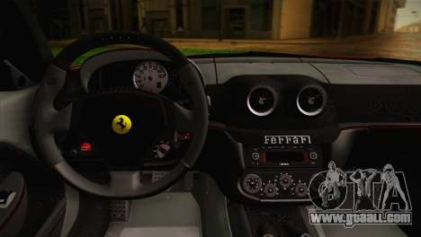 Ferrari 599 GTO 2011 for GTA San Andreas back view