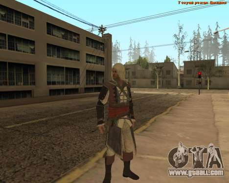 Assassin Edward for GTA San Andreas second screenshot