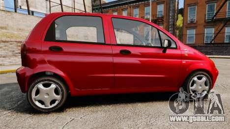 Daewoo Matiz SE 1998 for GTA 4 left view