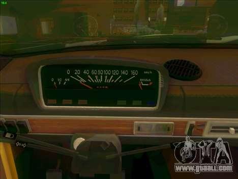 VAZ 21011 for GTA San Andreas inner view