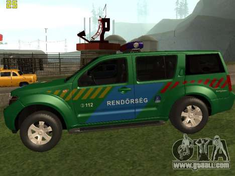 Nissan Pathfinder Police for GTA San Andreas left view