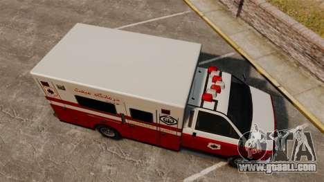 Iranian paint ambulance for GTA 4 right view