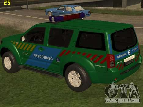 Nissan Pathfinder Police for GTA San Andreas bottom view