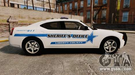 Dodge Charger 2010 Liberty County Sheriff [ELS] for GTA 4 left view