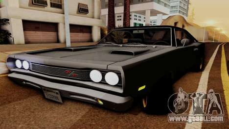 Dodge Coronet RT 1969 440 Six-pack for GTA San Andreas back view