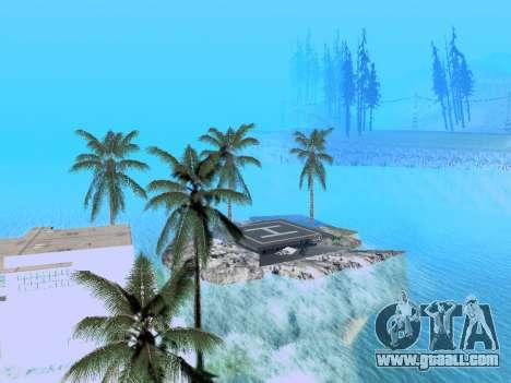 New island v1.0 for GTA San Andreas