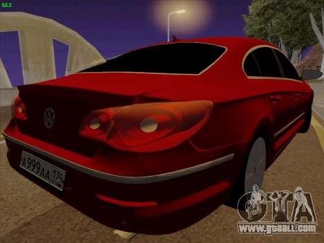 Volkswagen Passat CC for GTA San Andreas back left view