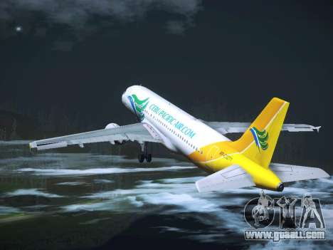 Airbus A320 Cebu Pacific Air for GTA San Andreas bottom view