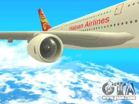 A380-800 Hainan Airlines for GTA San Andreas right view