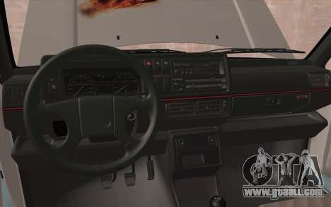 Volkswagen Golf 2 for GTA San Andreas inner view