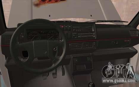 Volkswagen Golf 2 for GTA San Andreas inner view