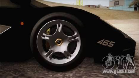 McLaren F1 Police Edition for GTA San Andreas right view