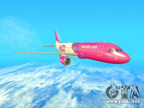 Airbus A320-200 WizzAir for GTA San Andreas right view