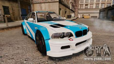 BMW M3 GTR 2012 Most Wanted v1.1 for GTA 4