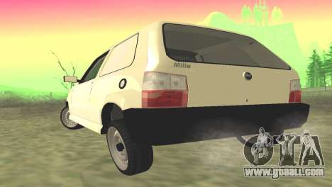 Fiat Uno Fire Cargo for GTA San Andreas back left view