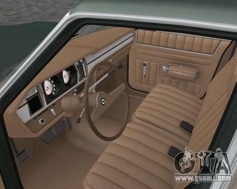 AMC Matador 1972 for GTA San Andreas inner view