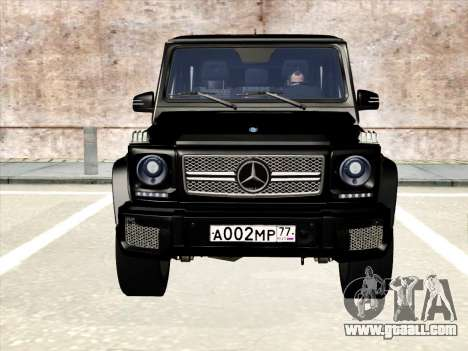 Mercedes-Benz G65 AMG 2013 for GTA San Andreas back view