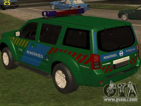 Nissan Pathfinder Police for GTA San Andreas interior