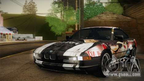 BMW M8 Custom for GTA San Andreas back view