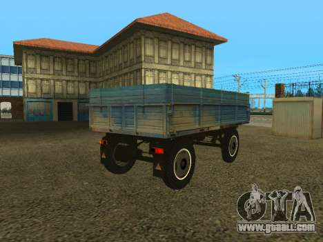 Trailer for ZIL 130 for GTA San Andreas back left view