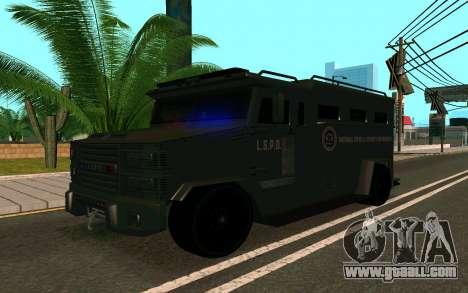 GTA V Police Riot for GTA San Andreas right view