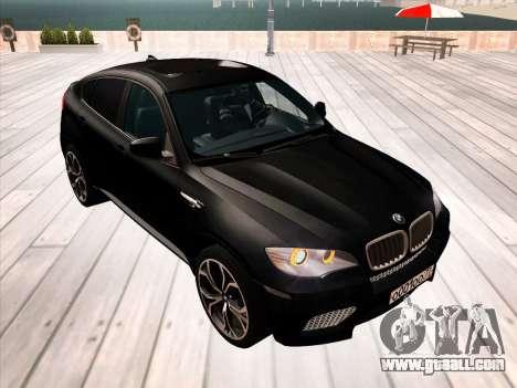 BMW X6M 2010 for GTA San Andreas wheels