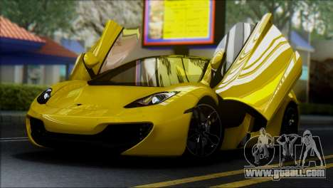 McLaren MP4-12C Spider for GTA San Andreas right view