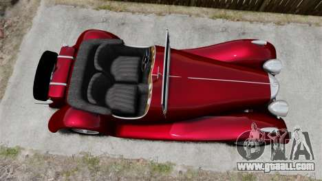Jaguar SS100 for GTA 4 right view