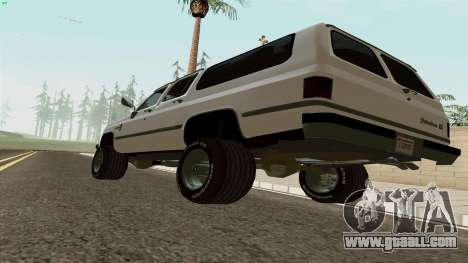 Chevrolet Suburban 2500 1986 for GTA San Andreas right view