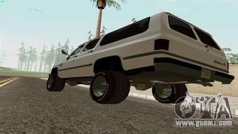 Chevrolet Suburban 2500 1986 for GTA San Andreas right view