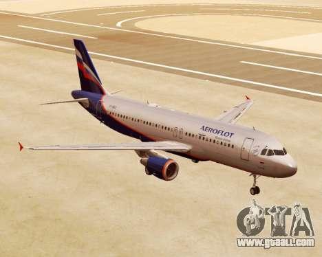 Airbus A320-200 Aeroflot for GTA San Andreas