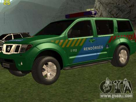 Nissan Pathfinder Police for GTA San Andreas upper view