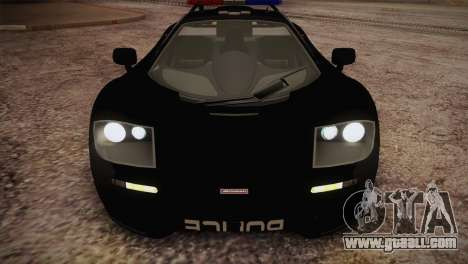 McLaren F1 Police Edition for GTA San Andreas inner view