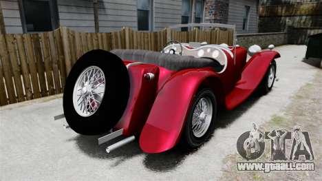 Jaguar SS100 for GTA 4 back left view