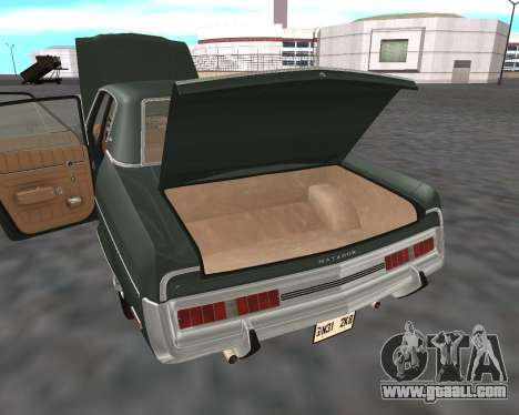 AMC Matador 1972 for GTA San Andreas bottom view