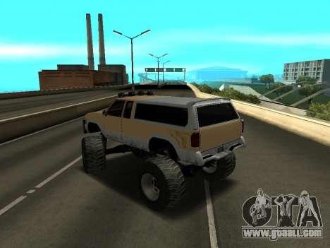 New Monster for GTA San Andreas back left view