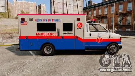 Brute MRSA Paramedic for GTA 4 left view