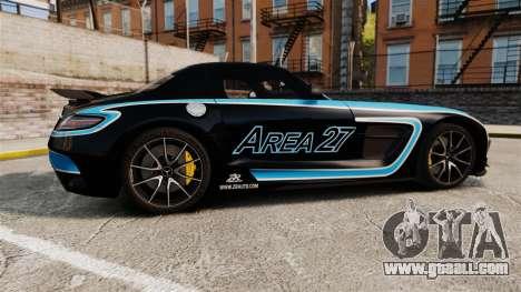 Mercedes-Benz SLS 2014 AMG Black Series Area 27 for GTA 4 left view