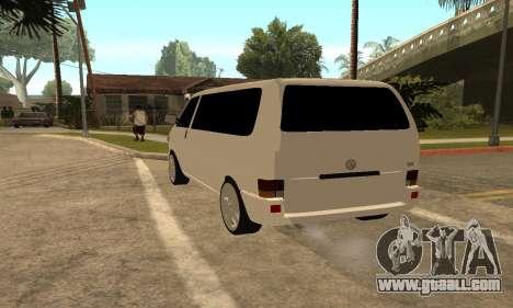 Volkswagen T4 Transporter for GTA San Andreas back left view