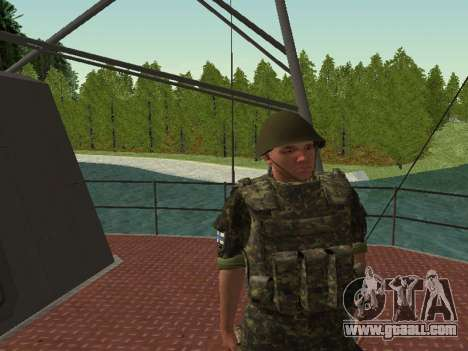 The marine Corps of the armed forces of Ukraine for GTA San Andreas ninth screenshot